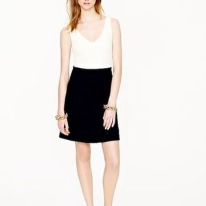 J. Crew Navy and Cream Colorblock Ponte Dress 00
